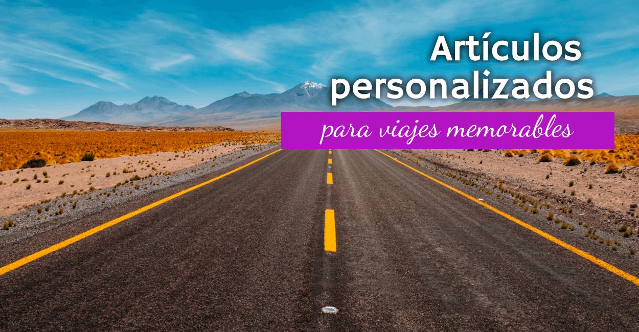 artículos de viaje personalizados